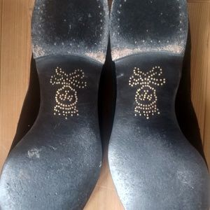 Barker & Black Shoes - BARKER BLACK Hand embroidered logo Black Velvet 12